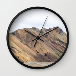 Landmannalaugar rainbow mountain in Iceland - lanscape photography Wall Clock