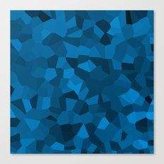 Blue Pixelated Geometric Pattern Canvas Print