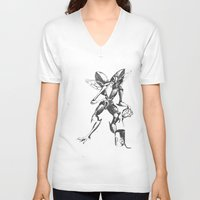 lovecraft V-neck T-shirts featuring Lovecraft Series:  Mi- Go by Furry Turtle Creations