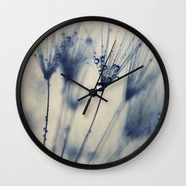 dandelion blue III Wall Clock