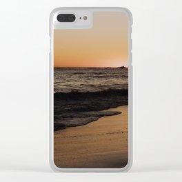 Sunsetting in Malibu Clear iPhone Case