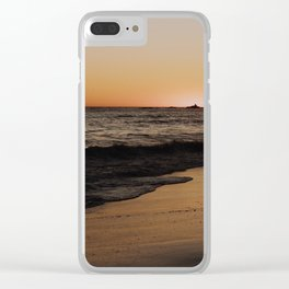 Sunsetting in Malibu Clear iPhone Case