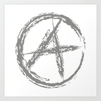 anarchy Art Prints featuring Anarchy by Collectivo 2