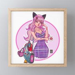 Otaku Girl Framed Mini Art Print