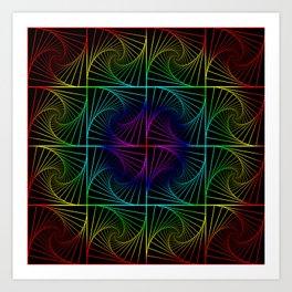 Psychedelic rainbow Art Print
