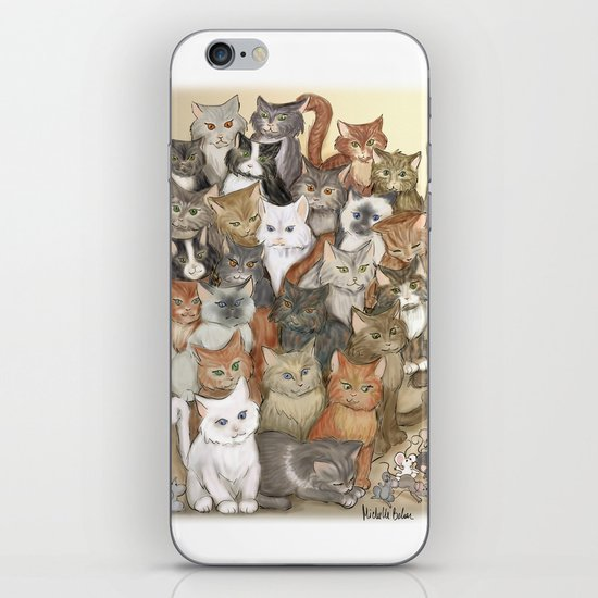1000 cats iPhone & iPod Skin