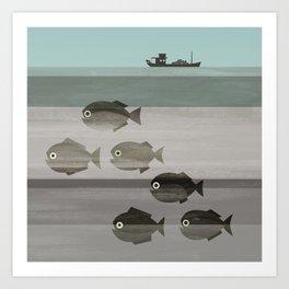 Pirañas en el río / river piranhas Art Print