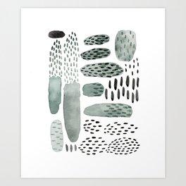 Abstract cacti Art Print