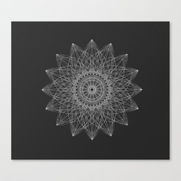 Flower Spirograph Canvas Print