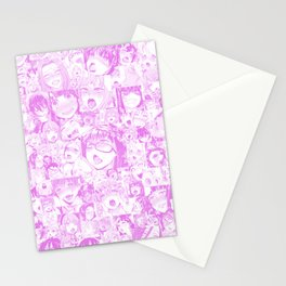 Pastel Ahegao Collage Stationery Cards