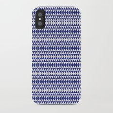 Blue Folk Art Slim Case iPhone X