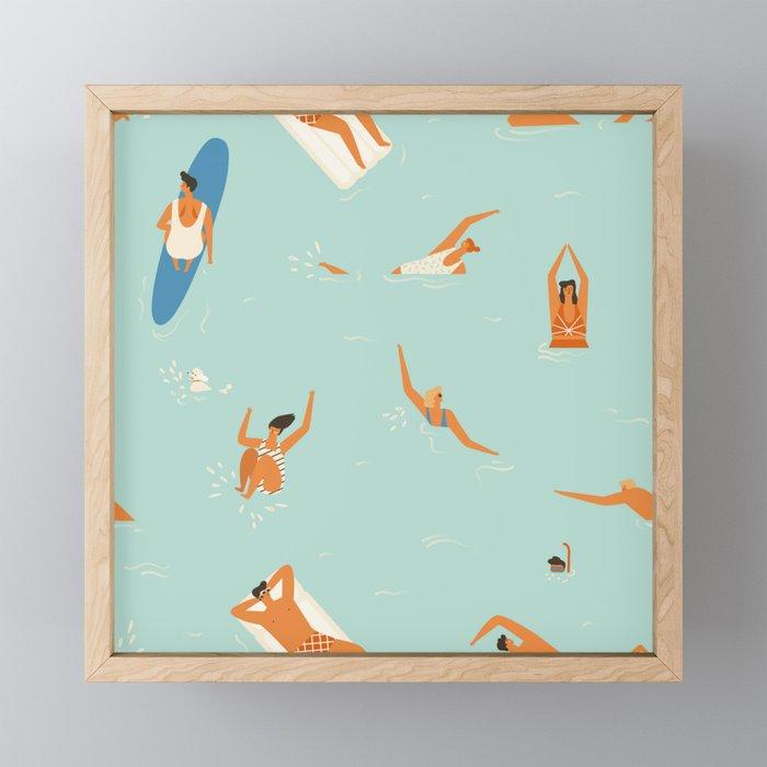 Lazy days Framed Mini Art Print
