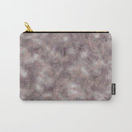 Gray Marble Pattern with Rose Gold Carry-All Pouch
