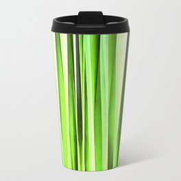 Eternal Evergreen Stripy Pattern Travel Mug