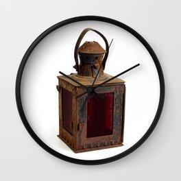 Old rusty lantern Wall Clock