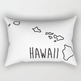 Hawaii Type Map Rectangular Pillow