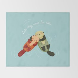 Let's Stay Warm Two-Otter Throw Blanket