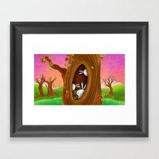 Bunny tree Framed Art Print