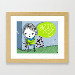 alright you two, knock off the kissy-poo Framed Art Print