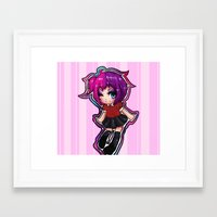 kawaii Framed Art Prints featuring Kawaii!  by katie stahl