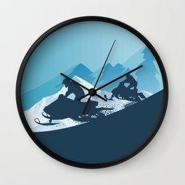 Snowmobile • Winter Sport Wall Clock