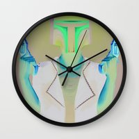 boba Wall Clocks featuring Boba by Yewot