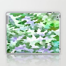 Foliage Abstract In Green and Mauve Laptop & iPad Skin