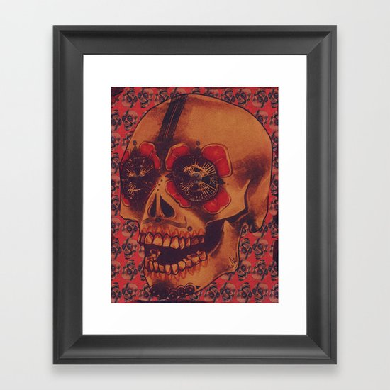 Skulled Framed Art Print