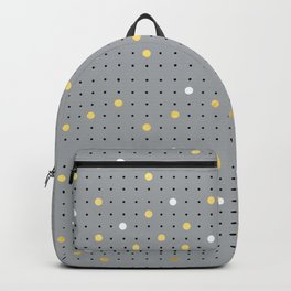 Pin Points Grey, Gold and White Backpack
