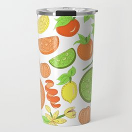 Citrus Garden Pattern Travel Mug