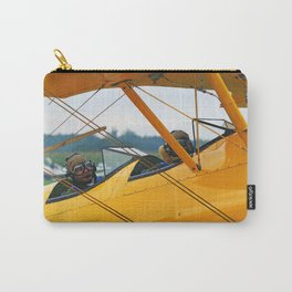 Oldtimer yellow plane Carry-All Pouch
