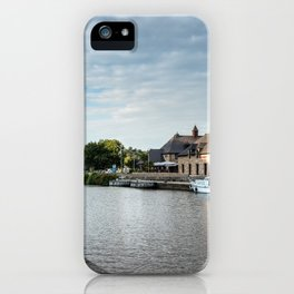 The habour of the city of Dinan iPhone Case