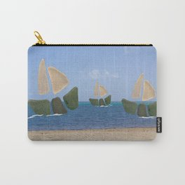I Saw Three Ships On Christmas Day #Christmas Carry-All Pouch