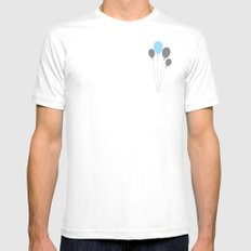 blue balloon White MEDIUM Mens Fitted Tee
