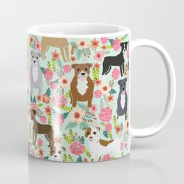 Pitbull florals mixed coats pibble gifts dog breed must have pitbulls florals Coffee Mug