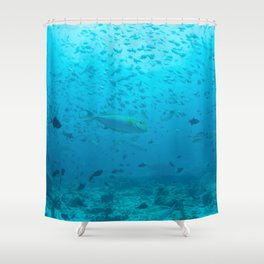 City of atlantis Shower Curtain