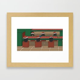 Helping out, (The Unexpected Adventures: Christmas Edition) Framed Art Print