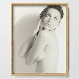 Nude, Akt, Nudes, Nackt, BW Nudes, Aktfoto, Aktfotografie Serving Tray