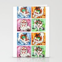 okami Stationery Cards featuring Okami Set by Jazmine Phillips