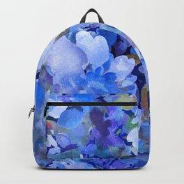 Wild Blue Rose Garden Backpack