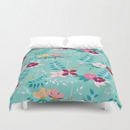 Exotic Flower Pattern Duvet Cover