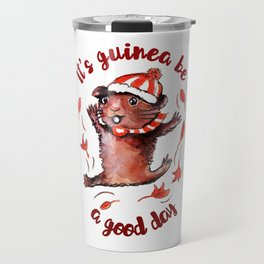 Happy Guinea Pig Travel Mug