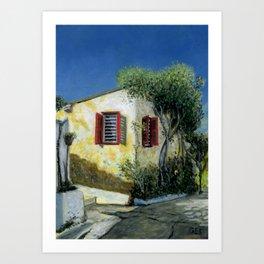 Anafiotika House, Athens, Greece Art Print