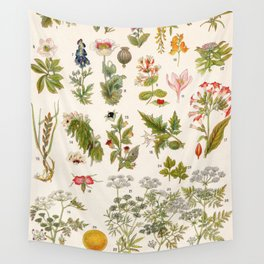Adolphe Millot - Plantes vénéneuses - French vintage botanical illustration Wall Tapestry