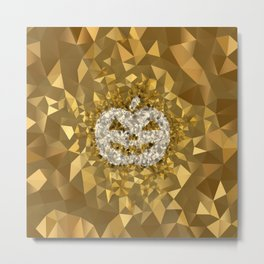POLYNOID Pumpkin / Gold Edition Metal Print