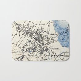 Vintage Map of Palo Alto California (1899) Bath Mat