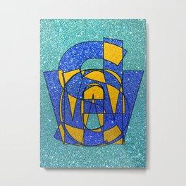 SWEDEN - Glitter Metal Print