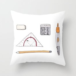 Cute nerdy tools Throw Pillow