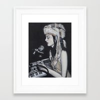 dj Framed Art Prints featuring DJ by Laura Preston