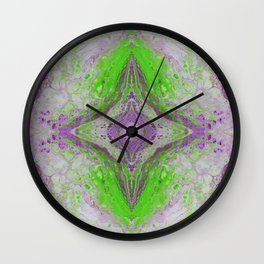 Psycho - Green Slime and Purple Fancy in a Reptile Universe by annmariescreations Wall Clock